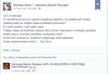 Saranya On FB Timeline in Tamil