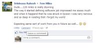 Srinivas On FB Timeline