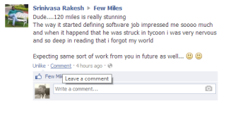 Srinivas On FB Timeline